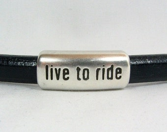 Live to Ride Spacers for Regaliz Leather - Antique Silver - SP98 - Choose Your Quantity