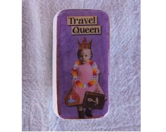 Domino Magnet Travel Queen Little Girl Child Vintage