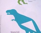 Printed Large Dinosaur Shapes