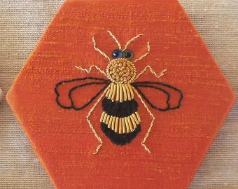 Bee goldwork embroidery kit