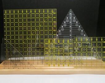 Wood Quilting Ruler Holder - Template Organizer / Storage