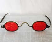 Antique Retracting Temple Spectacles