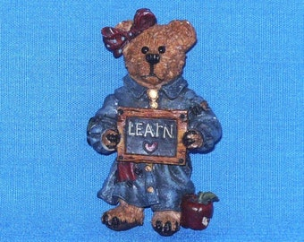 Teddy Bear Learn Coat Pin by Boyd's Bears
