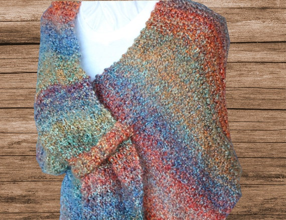 Knitting Pattern Easy to Knit Shawl Pattern by ...