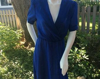 Vintage 1980's blue dress