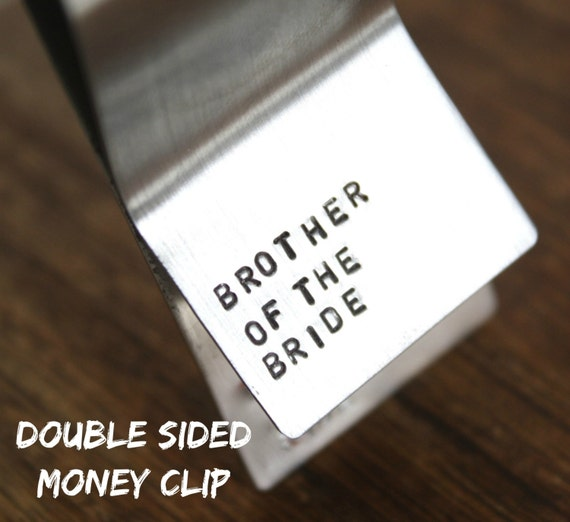 Wedding Gift For Brother Cash : Brother Gift Brother of the Bride Money Clip Personalized Wedding Day ...