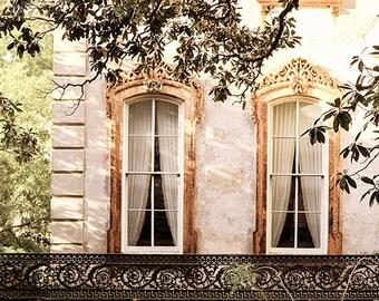 Savannah Window Photograph, Architecture Print, Georgia Fine Art Print, Affordable Home Decor, Travel Photo, Romantic Wall Art, Gift for Her