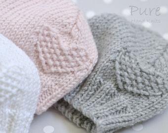 PREEMIE and NEWBORN baby hat EASY knitting pattern