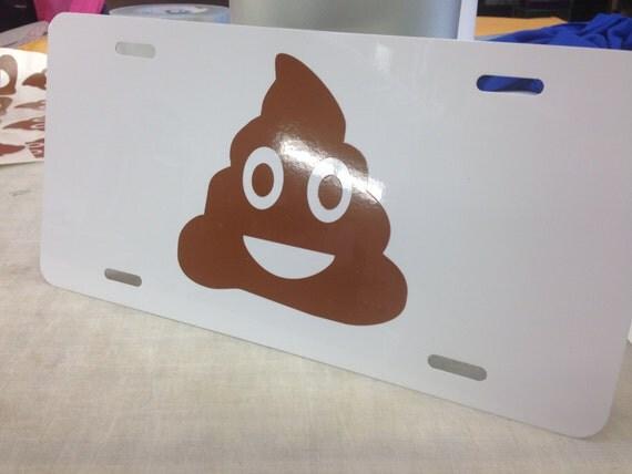 Emojii Car Tag - Poop