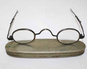 Antique Vintage 1790 to  1860 'S c bridge folding/sliding  optical eyeglasses  Civil War Era   Rare/rh667
