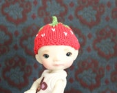 "Cute Strawberry hat for Enyo,  or other 5-6"" head doll"