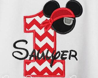 Pirate Mickey Birthday Shirt, Custom Pirate Mickey Shirt, Boys Birthday Shirt, Any Age, You Pick Fabrics, Free Personalization