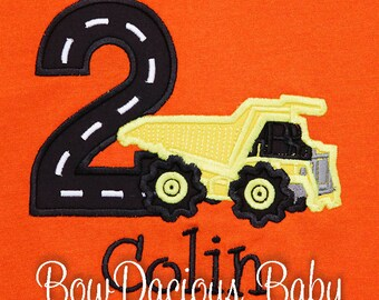 Dump Truck Birthday Shirt, Construction Birthday Shirt, Construction Dump Truck Birthday Shirt, Custom Construction Birthday Shirt
