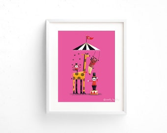 Big Top Circus - Giclee of an original illustration (8 x 10in)