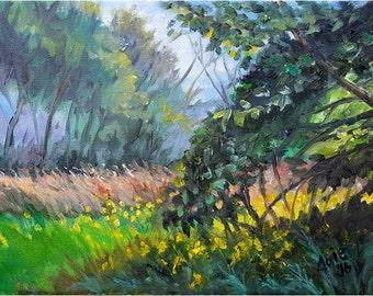 Plein Air Landscape Original Oil Painting - 12x9in Impressionism