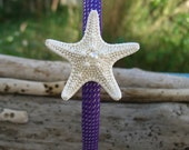 Starfish Mermaid Purple Headband, Beach Wedding, Mermaid Costume, Purple Headbands, Party Favors, Sea Star, Beach, Ocean, Girls Headband