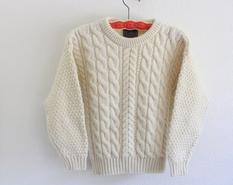 vintage wool children's fisherman sweater