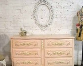 RESERVED for LIZ Painted Cottage Chic Shabby French Dresser/ Chest DR867