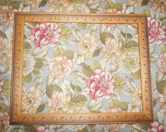 """100 per cent  Cotton Fabric BTY 45"""" Waverly Soft Cream and Blush Roses Shabby Chic  FREE SHIPPING"""