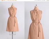 45% OFF SALE.... vintage 1970s dress • safari dress • day 70s dress • M L