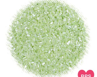 Shimmer Light Green Sparkling Sugar, Light Green Sugar, Peridot Sugar Crystals, Wedding Sprinkles, Pastel Sprinkles, Coarse Sugar Crystals