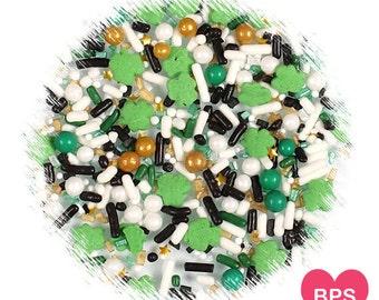 Sprinklefetti St Patrick's Day Sprinkles Mix, Shamrock Sprinkles, Nonpareils, Sparkling Sugar, Mini Sugar Pearls, Cupcake Sprinkles