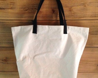 mens shopping bag, cotton shopping bag, canvas tote, Heavy Handled Canvas Shopping Bag - More Colors