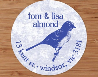Little Blue Birdie - Address Labels or Stickers