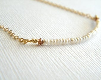 Pearl Bar Necklace, Freshwater Pearl Bar Necklace, Freshwater Pearl Necklace, Pearl Necklace, Bridesmaid Necklace