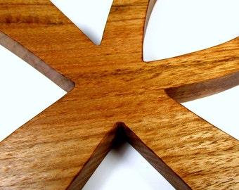 Ankh Cross / Egyptian Symbol / Life / Large / Butternut Wood