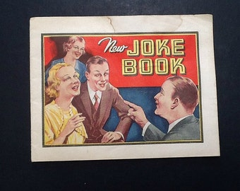 Vintage Dr. Miles Nervine Alka Seltzer Joke Book Advertisement Premium 1930's