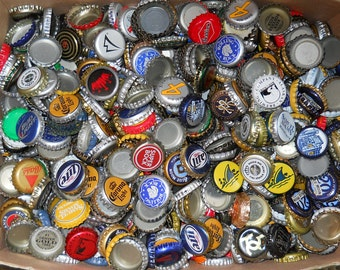 SALE! 100 Assorted Beer Bottle Caps | Art Craft | Supplies | One Hundred