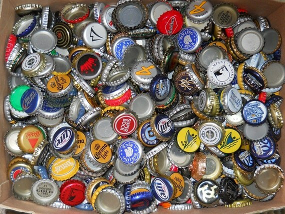 sale 100 assorted beer bottle caps art craft supplies