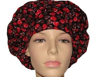 Scrub Hats - Valentines Day Oh Fudge Chocolate Hearts