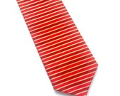 Little Guy Holiday NECKTIE Tie - Red and Gold Stripe - (2T-4T) - Boy Toddler - (Ready to Ship) Valentine's Day