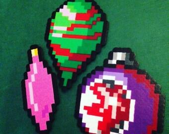 Retro Holiday Pixel Ornament