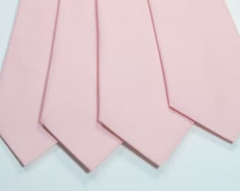 Blush Neckties Blush Wedding Neckties Mens Neckties Weddings Light Pink Neckties