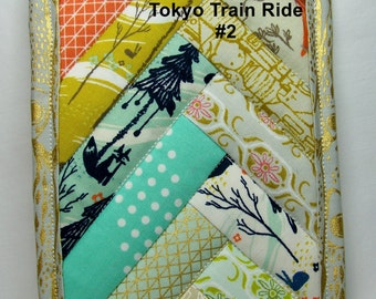 PK Quilted Plate Pad in Tokyo Train Ride #2  - Pot Holder - Hot Pad - Plate Pad - One of a Kind - Ready To Ship