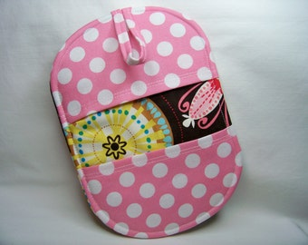 Pinch Pot Holder in Carnival Bloom - Hot Pad - Ready To Ship