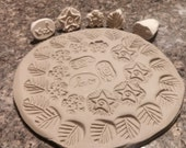 15 different BISQUE texture STAMPS for CLAY, pmc, fimo, and more!