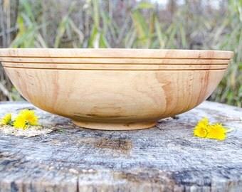 "Wood Bowl, Elegant X-Large Southern Pecan 14"" Wedding bowl, Centerpiece, Salad Bowl, Fruit Bowl, Serving Bowl,  hand turned"