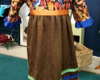 Girl's Fall Festivities Midi Dress sz. 6