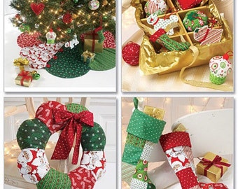 McCall's M6453 Sewing pattern | Christmas stockings | Ornaments | Tree skirt | Wreath | DIY | Ready to ship!