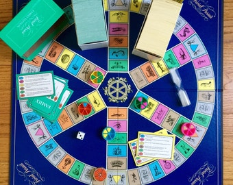 Vintage 1990s Childrens Game / Parker Brothers Trivial Pursuit Family Edition Master Game 1992 VGC Complete / Family Game