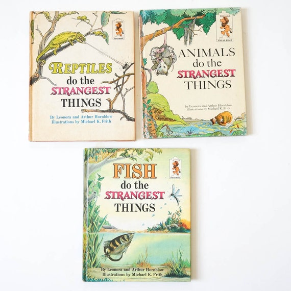 Vintage 1960s childrens books animals reptiles and fish do for Children s books about fish