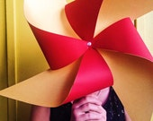 Chinese New Year Pinwheel - Red and Gold by Rule42