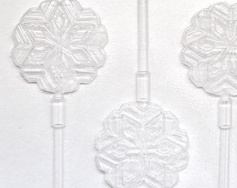 Snowflake Lollipop Mold, Chocolate Mold, Snowflake Chocolate Lollipop Mold