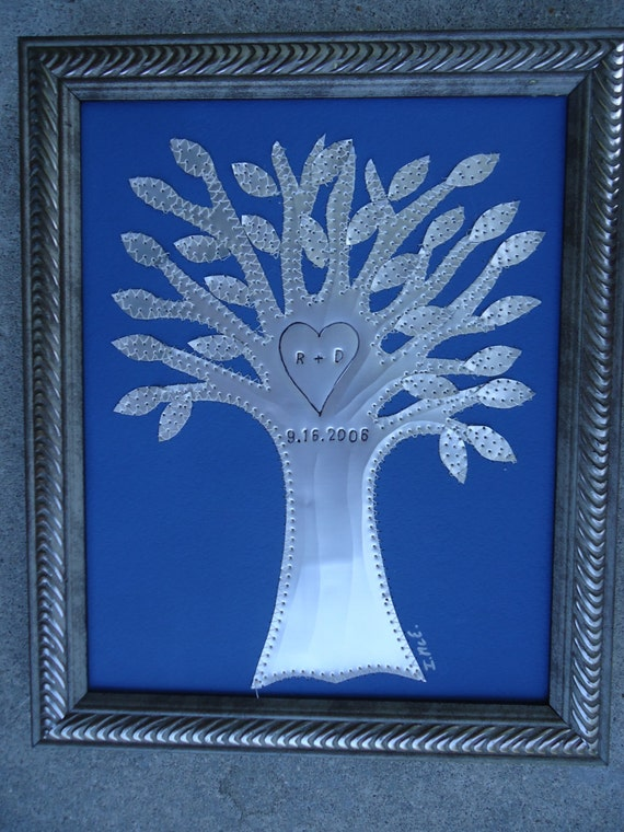 10 Year Anniversary Gift Tin Wedding Gift Tree