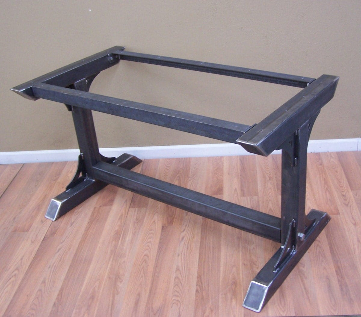 Industrial steel table base kitchen island bar legs massive - Kitchen table bases ...