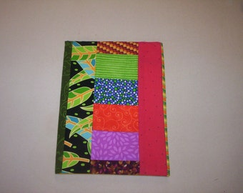 Hand made Quilted Composition Book Cover-6
